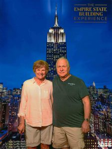 Susan Oropallo and Charles Oropallo visited the Empire State Building in New York City on May 20, 2018.
